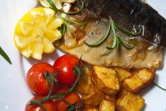 Saumons avec le thym Photo libre de droits