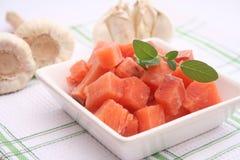Saumons congelés Photos libres de droits