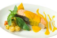 Saumons cuits à la vapeur Image stock