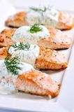 Saumons cuits Photographie stock libre de droits