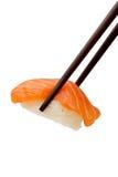 Saumons de sushi Photographie stock libre de droits