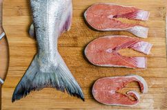 Saumons et bifteck de poissons image libre de droits