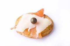 Saumons et fromage sur un casseur Image libre de droits