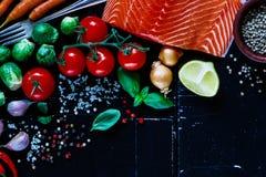 Saumons et ingrédients Photos libres de droits