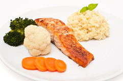 Saumons et quinoa Image stock