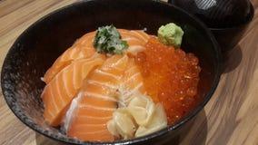 Saumons et riz Photo libre de droits