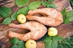 Saumons fumés photo libre de droits