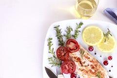 Saumons grillés Image libre de droits