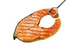 Saumons grillés photo libre de droits