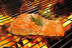 Saumons grillés Image stock