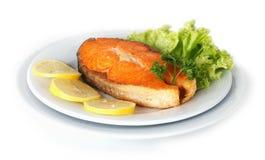 Saumons rôtis Photographie stock libre de droits