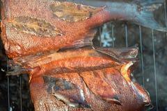 Saumons rouges de tabagisme photos libres de droits