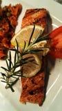 Saumons servis Photographie stock libre de droits