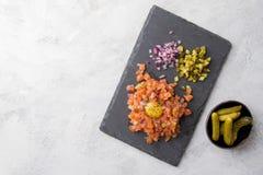 Saumons tartares Image libre de droits