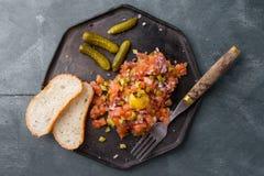 Saumons tartares Photographie stock