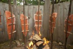 Saumons traditionnels de Natif américain Images libres de droits