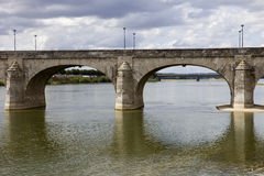 Saumur bridge Royalty Free Stock Photography