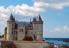 Saumur castle Stock Image