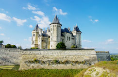 Saumur castle -loire valley Royalty Free Stock Images