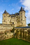Saumur castle at Loire valley Royalty Free Stock Photos