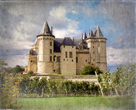 Saumur Chateau vintage Royalty Free Stock Image