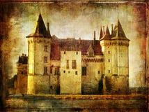 Saumur (de Loire vallei) Stock Foto's