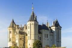 Saumur kasztel Saumur, Maine et Loire, Francja obrazy royalty free