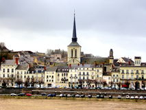 Saumur in the Loire, France Royalty Free Stock Photos