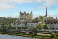 Saumur, Pays-de-la-Loire, Francja Obraz Royalty Free