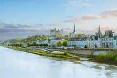 Saumur, Pays-de-la-Loire, Francja Obraz Stock