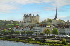Saumur Pays de la Loire, Frankrike Royaltyfri Bild