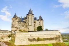 Saumur slott Royaltyfria Bilder