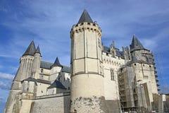 Saumur slott Fotografering för Bildbyråer