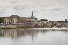 Saumur town Stock Image
