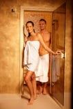 sauna двери пар стоковые изображения rf