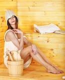 sauna девушки Стоковые Изображения RF