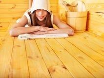 sauna девушки Стоковая Фотография RF