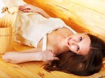 sauna девушки Стоковая Фотография