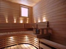 Sauna Fotografía de archivo libre de regalías