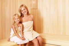 In the sauna Stock Photo