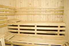 sauna Fotografía de archivo