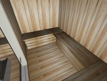 sauna 3d Foto de Stock Royalty Free