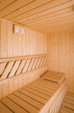 Sauna. Wooden steam room in sauna Royalty Free Stock Image