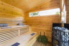 sauna photographie stock