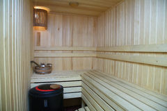 Sauna Imagenes de archivo