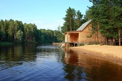 Sauna. The sauna costs on river bank Stock Photography