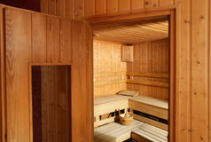 Sauna Fotografie Stock Libere da Diritti