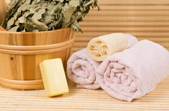 Sauna accessories Stock Images