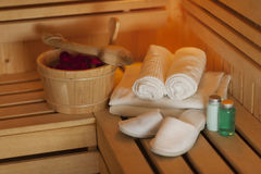 Sauna accessories Royalty Free Stock Image
