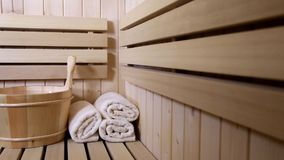 Sauna accessories stock video